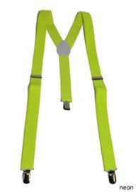 Bretel Fluor / Neon geel 2,5 cm breed (60827E)