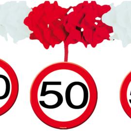 Slinger met onderhanger verkeersbord 50 jaar (05233F)