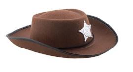 Cowboyhoed sheriff bruin Kind (50361E)