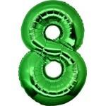 Folie Cijfer 8 - 100 cm Groen