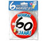 Bierviltjes verkeersbord 60 jaar - 6 stuks