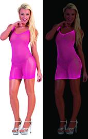 Visnet jurk neon Roze (59340E)