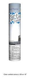 Confetti shooter zilver 20 cm (silver-66269E)