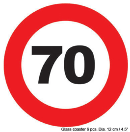 Onderzetters verkeersbord 65 jaar (84423E)