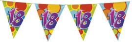 Vlaggenlijn ballonnen leeftijd 18 jaar (10 meter)