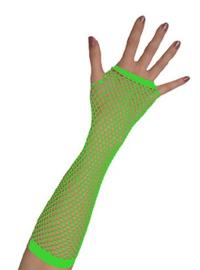 Nethandschoenen lang vingerloos Neon Groen (80062E)