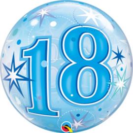 Bubble 18 jaar - Blue Starburst Sparkle  (48439Q)