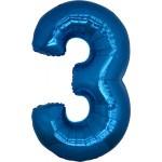 Folie Cijfer 3 - 100 cm Blauw