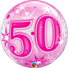 Bubble 50 jaar - Pink Starburst Sparkle  (43126Q)