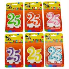 Nummerkaars / cijferkaars 25 jaar (15363W)