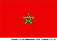 Vlag Marokko - 90 x 150 cm (62592E)