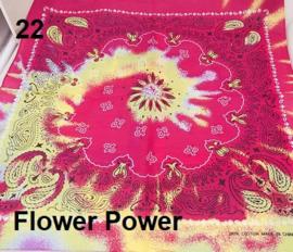 Bandana / boerenzakdoek Flower Power (100% katoen - 022)
