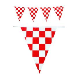 Vlaggenlijn Rood/Wit Brabants bont  - 10 meter (94947P)