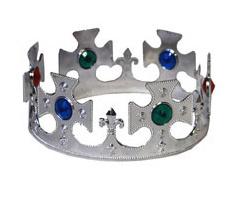 Koningskroon zilver verstelbaar (53060E)