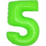 Folie Cijfer 5 - 100 cm Neon Groen