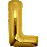 Folie Letter L - 100 cm Goud