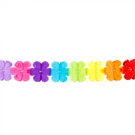 Flower Power guirlande / slinger  4 meter (30623B)