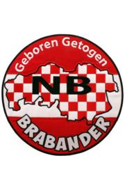 Applicatie Geboren en Getogen Brabander 22,5 cm (14977P)