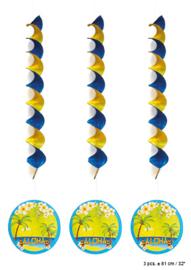 Spiraal Hangdecoratie Hawai - 3 stuks (62562E)