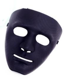 Masker met serieuze blik - Zwart (34840P)