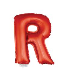 Folie Letter R - 41 cm Rood (met stokje)