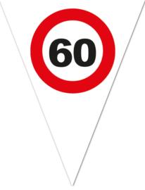 Vlaggenlijn 60 jaar Verkeersbord - 5 meter (85230E)