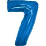 Folie Cijfer 7 - 100 cm Blauw