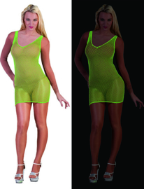 Visnet jurk neon Groen (59339E)