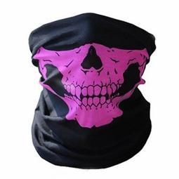 Mond- en halsdoek Skull Roze (2350GF)