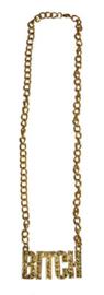 Gouden ketting Bitch (53398E)