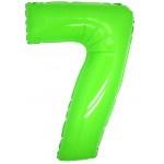 Folie Cijfer 7 - 100 cm Neon Groen