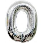 Folie Letter O - 100 cm Zilver