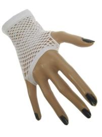 Nethandschoenen kort vingerloos Wit (60432E)