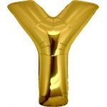 Folie Letter Y - 100 cm Goud