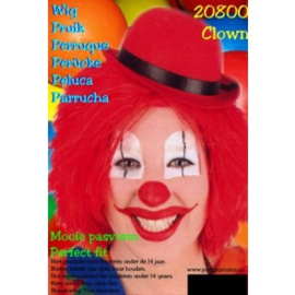 Clownspruik Rood (20800P)