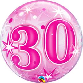 Bubble 30 jaar - Pink Starburst Sparkle  (43124Q)
