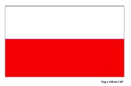 Vlag Polen - 90 x 150 cm (62251E)