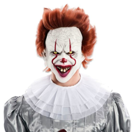 Masker scary clown steil haar (T2800W)