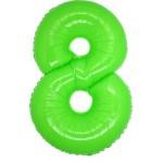 Folie Cijfer 8 - 100 cm Neon Groen