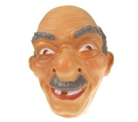 Masker oude man - grijze haren  (34245P)