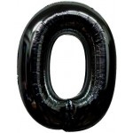 Folie Cijfer 0 - 100 cm Zwart