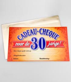 Cadeau-cheque 30 JAAR! (16PD)