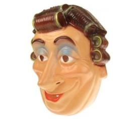 Masker oudere vrouw met krulspelden (34244P)