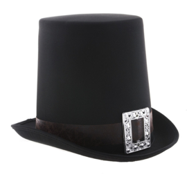 Hoge hoed vampier / steampunk zwart (74993E)