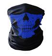 Mond- en halsdoek Skull Blauw (2350GF)