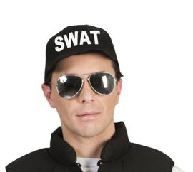 Cap SWAT zwart - verstelbaar (51239E)