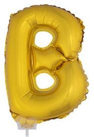 Folie Letter B - 41 cm Goud (met stokje)