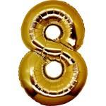 Folie Cijfer 8 - 66 cm Goud