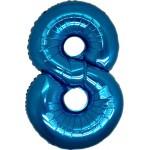 Folie Cijfer 8 - 100 cm Blauw