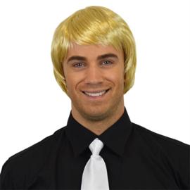 Herenpruik steil haar Blond (30382W)